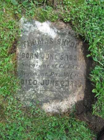 SNYDER (CW), SGT.  THOMAS - Northampton County, Pennsylvania | SGT.  THOMAS SNYDER (CW) - Pennsylvania Gravestone Photos
