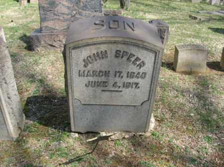 SPEER, JOHN - Northampton County, Pennsylvania | JOHN SPEER - Pennsylvania Gravestone Photos