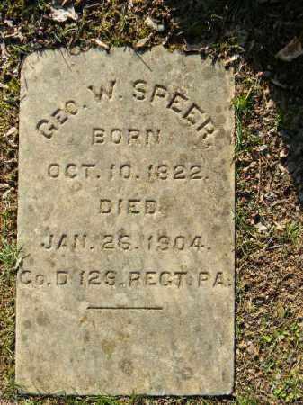 SPEER (SPEAR) (CW), GEORGE W. (N) - Northampton County, Pennsylvania | GEORGE W. (N) SPEER (SPEAR) (CW) - Pennsylvania Gravestone Photos