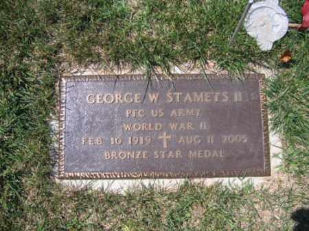 STAMETS  II, GEORGE W. - Northampton County, Pennsylvania | GEORGE W. STAMETS  II - Pennsylvania Gravestone Photos