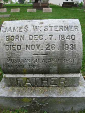 STERNER, JAMES W. - Northampton County, Pennsylvania | JAMES W. STERNER - Pennsylvania Gravestone Photos