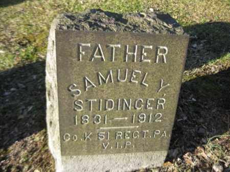 STIDINGER (CW), SAMUEL Y. - Northampton County, Pennsylvania | SAMUEL Y. STIDINGER (CW) - Pennsylvania Gravestone Photos