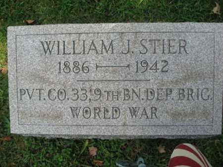STIER, WILLIAM J. - Northampton County, Pennsylvania | WILLIAM J. STIER - Pennsylvania Gravestone Photos