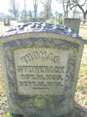 STONEBACK, THOMAS - Northampton County, Pennsylvania | THOMAS STONEBACK - Pennsylvania Gravestone Photos