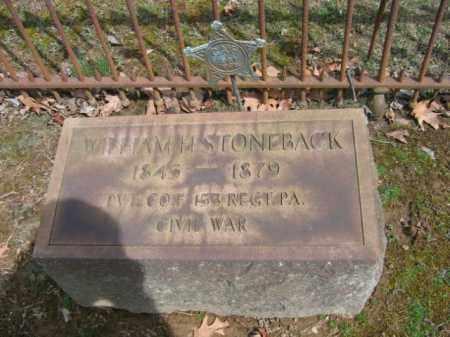 STONEBACK, WILLIAM H. - Northampton County, Pennsylvania   WILLIAM H. STONEBACK - Pennsylvania Gravestone Photos