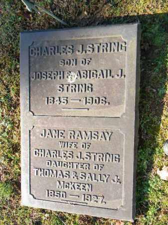 STRING, CHARLES J. - Northampton County, Pennsylvania   CHARLES J. STRING - Pennsylvania Gravestone Photos