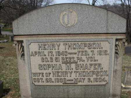 THOMPSON (CW), HENRY - Northampton County, Pennsylvania | HENRY THOMPSON (CW) - Pennsylvania Gravestone Photos