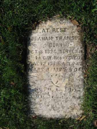 TRANSUE (CW), ABRAHAM - Northampton County, Pennsylvania   ABRAHAM TRANSUE (CW) - Pennsylvania Gravestone Photos