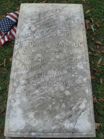 TRANSUE, JOHN L. - Northampton County, Pennsylvania   JOHN L. TRANSUE - Pennsylvania Gravestone Photos