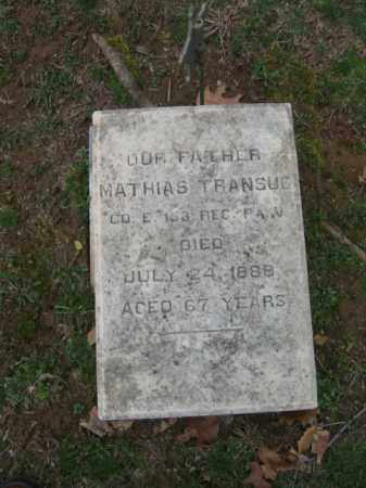 TRANSUE, MATHIAS - Northampton County, Pennsylvania   MATHIAS TRANSUE - Pennsylvania Gravestone Photos