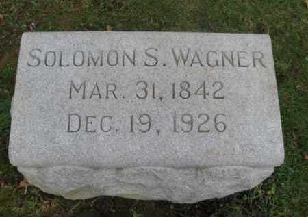 WAGNER, SOLOMON S. - Northampton County, Pennsylvania | SOLOMON S. WAGNER - Pennsylvania Gravestone Photos
