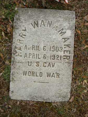 WANAMAKER (WW I), HARRY - Northampton County, Pennsylvania   HARRY WANAMAKER (WW I) - Pennsylvania Gravestone Photos