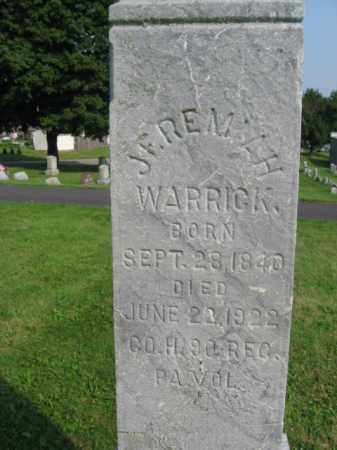 WARRICK (WARGH) (CW), JEREMIAH - Northampton County, Pennsylvania | JEREMIAH WARRICK (WARGH) (CW) - Pennsylvania Gravestone Photos