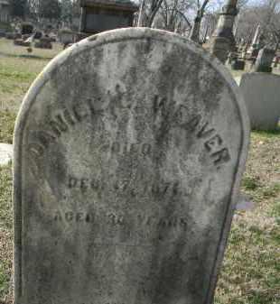 WEAVER, DANIEL - Northampton County, Pennsylvania   DANIEL WEAVER - Pennsylvania Gravestone Photos