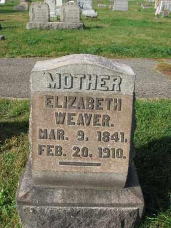 WEAVER, ELIZABETH - Northampton County, Pennsylvania   ELIZABETH WEAVER - Pennsylvania Gravestone Photos