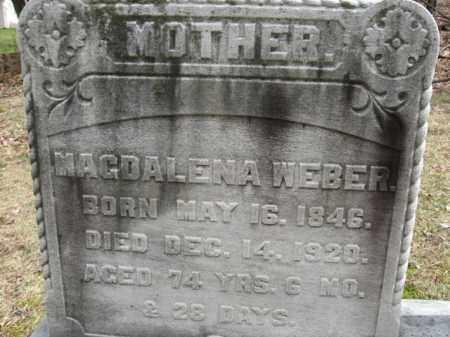 WEBER, MAGDALENA - Northampton County, Pennsylvania | MAGDALENA WEBER - Pennsylvania Gravestone Photos