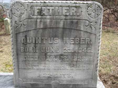 WEBER, QUINTUS - Northampton County, Pennsylvania | QUINTUS WEBER - Pennsylvania Gravestone Photos