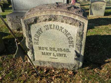 WEIDKNECHT (CW), HENRY - Northampton County, Pennsylvania | HENRY WEIDKNECHT (CW) - Pennsylvania Gravestone Photos