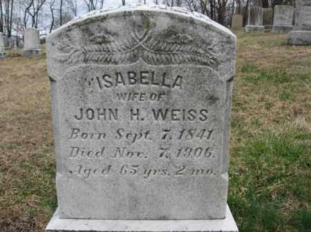 WEISS, ISABELLA - Northampton County, Pennsylvania | ISABELLA WEISS - Pennsylvania Gravestone Photos