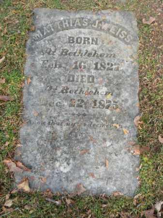 WEISS, MATTHIAS J. - Northampton County, Pennsylvania   MATTHIAS J. WEISS - Pennsylvania Gravestone Photos