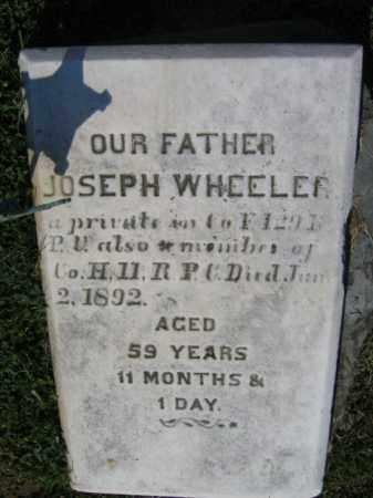 WHEELER, JOSEPH - Northampton County, Pennsylvania | JOSEPH WHEELER - Pennsylvania Gravestone Photos