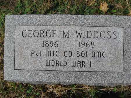 WIDDOSS, GEORGE M. - Northampton County, Pennsylvania | GEORGE M. WIDDOSS - Pennsylvania Gravestone Photos