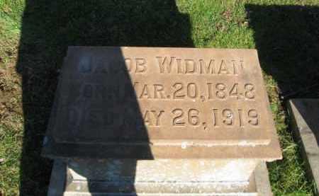 WIDMAN, JACOB - Northampton County, Pennsylvania | JACOB WIDMAN - Pennsylvania Gravestone Photos