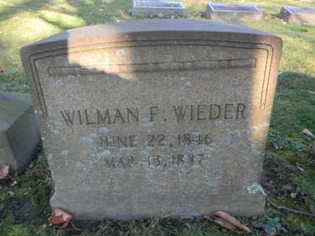 WIEDER, WILMAN F. - Northampton County, Pennsylvania   WILMAN F. WIEDER - Pennsylvania Gravestone Photos