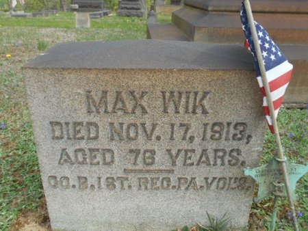 WIK AKA WEEKS (CW), MAX - Northampton County, Pennsylvania | MAX WIK AKA WEEKS (CW) - Pennsylvania Gravestone Photos