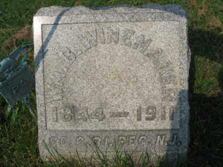 WINEMAKER, WILLIAM B. - Northampton County, Pennsylvania   WILLIAM B. WINEMAKER - Pennsylvania Gravestone Photos