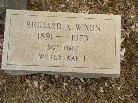 WIXON (WW I), RICHARD A. - Northampton County, Pennsylvania | RICHARD A. WIXON (WW I) - Pennsylvania Gravestone Photos
