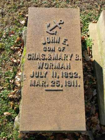 WORMAN (CW), JOHN E. - Northampton County, Pennsylvania | JOHN E. WORMAN (CW) - Pennsylvania Gravestone Photos