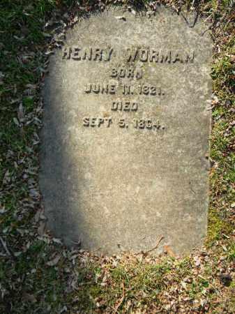 WORMAN, HENRY - Northampton County, Pennsylvania | HENRY WORMAN - Pennsylvania Gravestone Photos