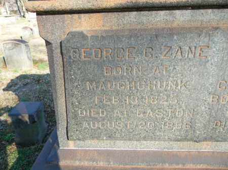 ZANE, GEORGE G. - Northampton County, Pennsylvania | GEORGE G. ZANE - Pennsylvania Gravestone Photos