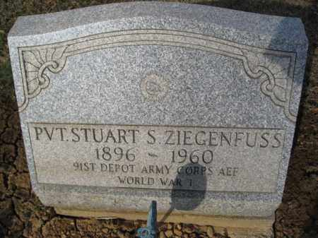ZIEGENFUSS  (WW I), STUART S. - Northampton County, Pennsylvania   STUART S. ZIEGENFUSS  (WW I) - Pennsylvania Gravestone Photos