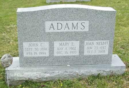 ADAMS, MARY E. - Northumberland County, Pennsylvania | MARY E. ADAMS - Pennsylvania Gravestone Photos
