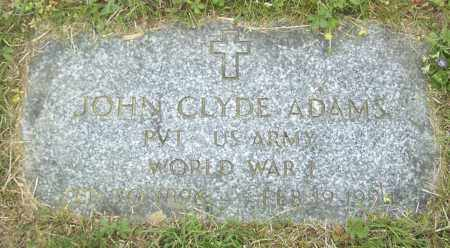 ADAMS, JOHN CLYDE - Northumberland County, Pennsylvania | JOHN CLYDE ADAMS - Pennsylvania Gravestone Photos