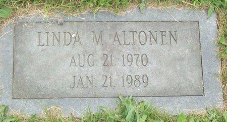 ALTONEN, LINDA M - Northumberland County, Pennsylvania | LINDA M ALTONEN - Pennsylvania Gravestone Photos