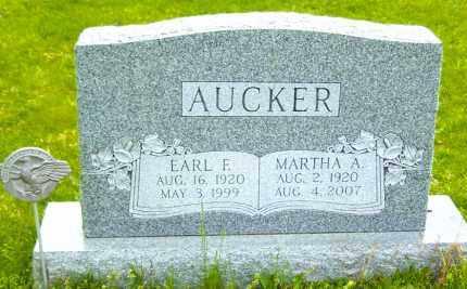 AUCKER, MARTHA A. - Northumberland County, Pennsylvania | MARTHA A. AUCKER - Pennsylvania Gravestone Photos