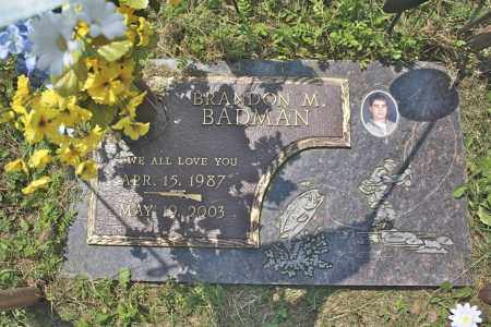 BADMAN, BRANDON M - Northumberland County, Pennsylvania | BRANDON M BADMAN - Pennsylvania Gravestone Photos