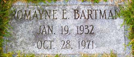 BARTMAN, ROMAYNE E - Northumberland County, Pennsylvania   ROMAYNE E BARTMAN - Pennsylvania Gravestone Photos