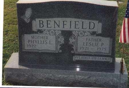 BENFIELD, LESLIE P - Northumberland County, Pennsylvania | LESLIE P BENFIELD - Pennsylvania Gravestone Photos