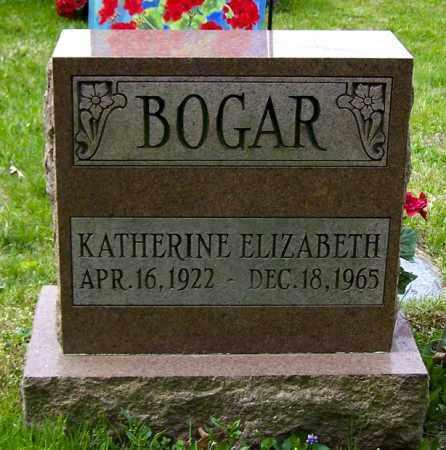 BOGAR, KATHERINE ELIZABETH - Northumberland County, Pennsylvania | KATHERINE ELIZABETH BOGAR - Pennsylvania Gravestone Photos