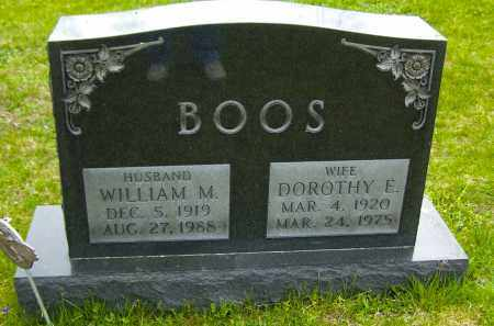 BOOS, WILLIAM M - Northumberland County, Pennsylvania | WILLIAM M BOOS - Pennsylvania Gravestone Photos
