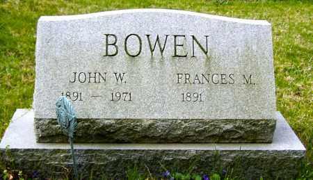 BOWEN, FRANCES - Northumberland County, Pennsylvania | FRANCES BOWEN - Pennsylvania Gravestone Photos