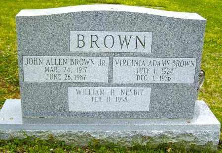 ADAMS BROWN, VIRGINIA - Northumberland County, Pennsylvania | VIRGINIA ADAMS BROWN - Pennsylvania Gravestone Photos