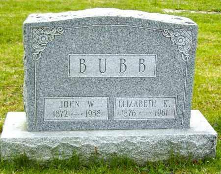 BUBB, JOHN W. - Northumberland County, Pennsylvania | JOHN W. BUBB - Pennsylvania Gravestone Photos