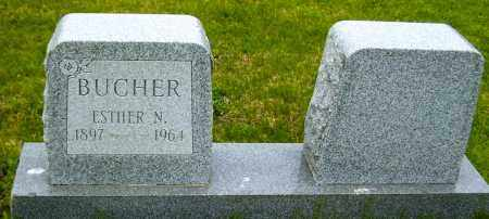 BUCHER, ESTHER N - Northumberland County, Pennsylvania | ESTHER N BUCHER - Pennsylvania Gravestone Photos