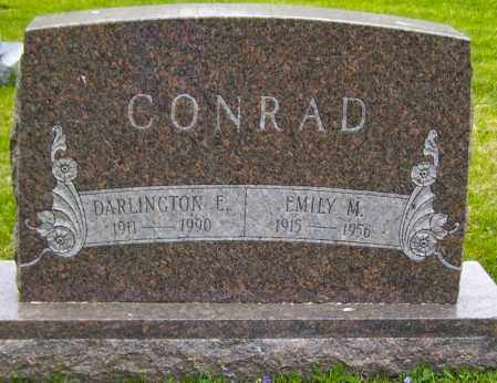 CONRAD, DARLINGTON E - Northumberland County, Pennsylvania | DARLINGTON E CONRAD - Pennsylvania Gravestone Photos