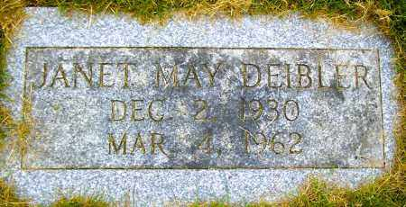 DEIBLER, JANET MAY - Northumberland County, Pennsylvania | JANET MAY DEIBLER - Pennsylvania Gravestone Photos